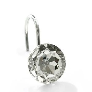 Faux jewel shower hook set or  3 for $25